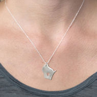Wisconsin Love Necklace