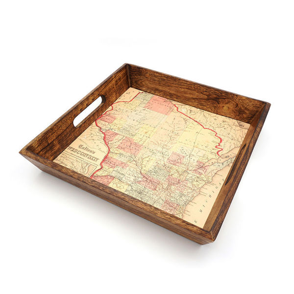 Picture of Decorative Wisconsin Map Serving Tray