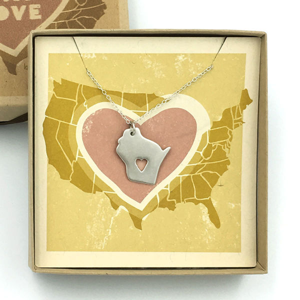 Wisconsin Love Necklace Detail