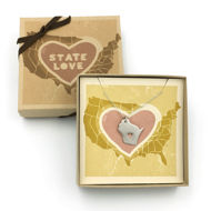 Wisconsin Love Necklace - with Box