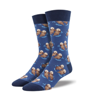 Significant Otter Socks - Blue