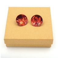 Copper Post Earrings with Box