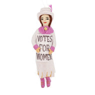 Suffragist Doll Ornament - White Dress