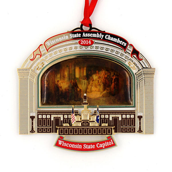 Picture of 2014 Wisconsin State Capitol Ornament