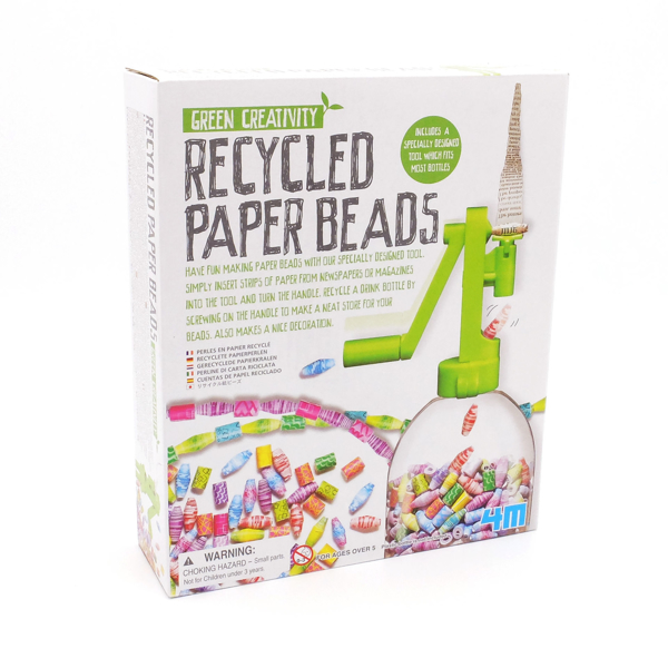 Recycled Paper Beads - front
