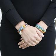 Kantha Bead Rainbow Bracelet - 2