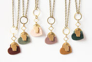 Wisconsin Heart Necklaces