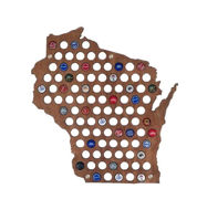 Beer Cap Map Sample with Bottle Caps