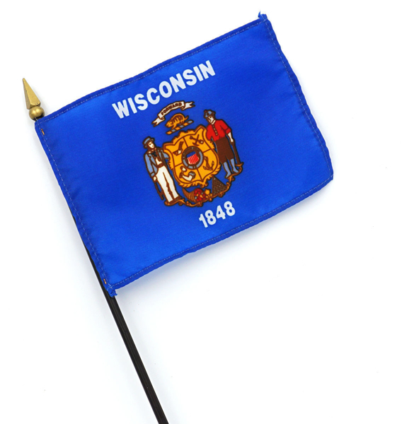 Wisconsin Flag Minature