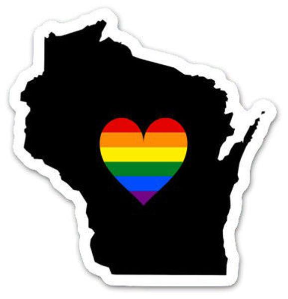 Wisconsin Heart Sticker