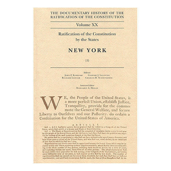 Documentary History of the Ratification of the Constitution Volume 20: Ratification by the States: New York, no. 2
