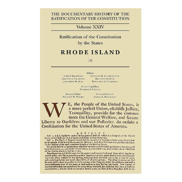 Documentary History of the Ratification of the Constitution, Volume 24