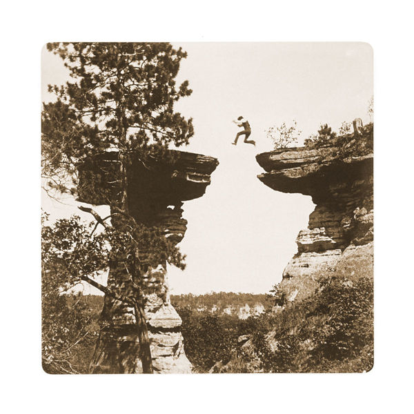 """H.H. Bennett """"Leaping the Chasm"""" Trivet"""