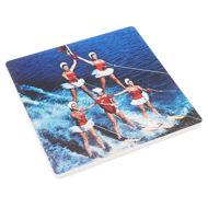 """H.H. Bennett """"Water Ski Pyramid"""" Trivet"""