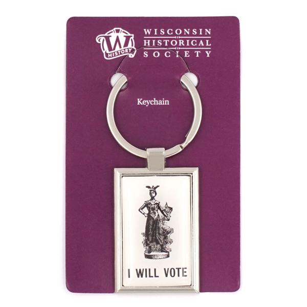 I Will Vote Key Chain