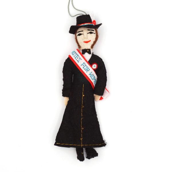 Suffragette Doll Ornament