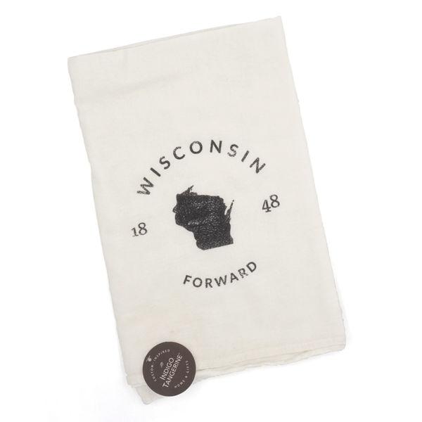 Wisconsin 1848 Tea Towel