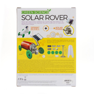 Solar Rover Kit- Back of box with rover and all the contents of kit displayed.