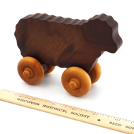 Handcrafted Wooden Sheep Push Toy