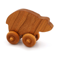 Handcrafted Wooden Bear Push Toy