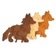 Handcrafted Wooden Fox Puzzles