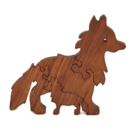 Handcrafted Wooden Fox Puzzle