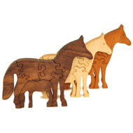 Handcrafted Wooden Horse Puzzles