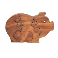 Handcrafted Wooden Pig Puzzle