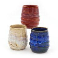 Stemless Stoneware Wine Glasses