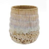 Stemless Stoneware Wine Glasse - Speckle White