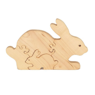 Handcrafted Wooden Bunny Puzzle