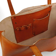 Leather Tote Inside