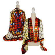 Villa Louis Stained Glass Scarf - Silk