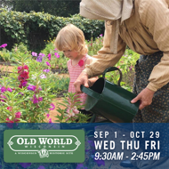 Old World Wisconsin | Sep 1 - Oct 29 | Wednesdays, Thursdays, and Fridays | 9:30 AM - 2:45 PM