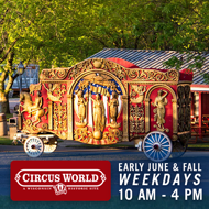 Circus World | General Admission | Weekdays between 10am and 4pm