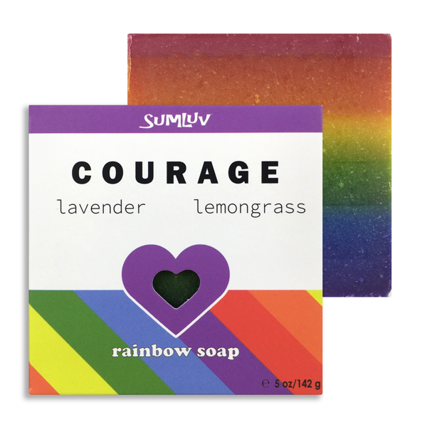Courage Rainbow Soap