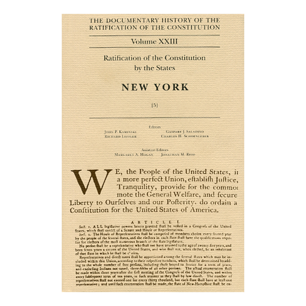 Documentary History of the Ratification of the Constitution Volume 23: New York, no. 5