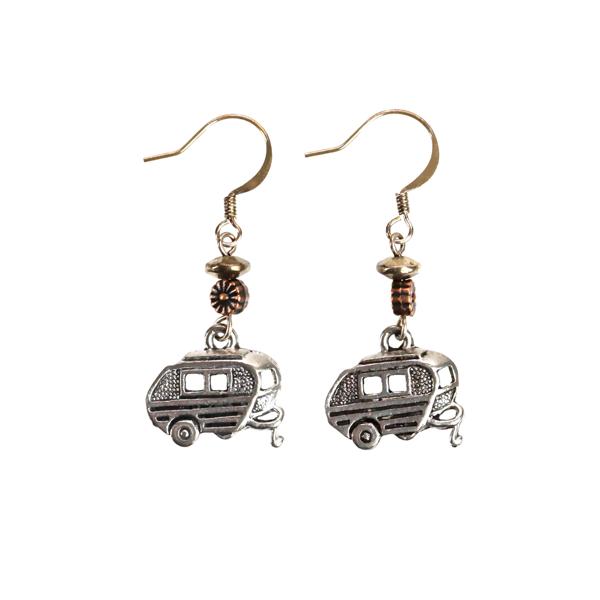 Earrings with Metal Airstream Camper's Hanging