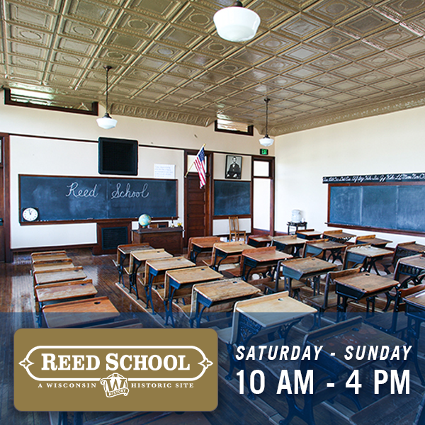 Reed School, Saturday and Sunday 10am - 4pm