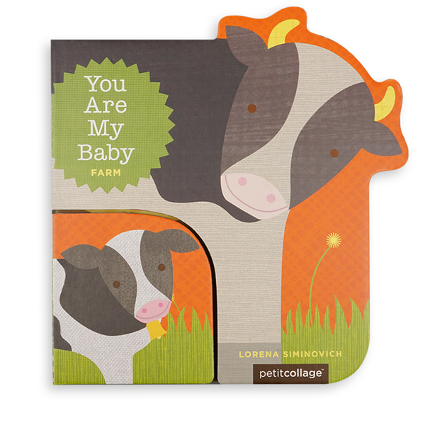 Illustrated Mother and Baby Cow