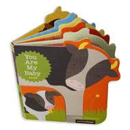 Illustrated Mother and Baby Cow With Pages fanned open
