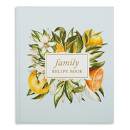 Duncan & Stone Family Recipe Book Cover- Oranges and Flowers