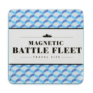 Magnetic Battlefield Fleet Travel Size Printed in bold black with light blue and dark blue geometric shapes in background